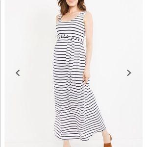 Maternity striped Maxi Dress Size Small